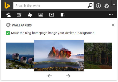Viewing daily images with Bing Desktop