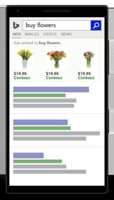 Beispiel für eine mobile Anzeige