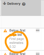 Below first page bid