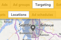 Radius targeting under location targeting
